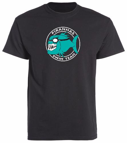 Piranhas Black T-Shirt - SwimOutlet Cotton Unisex Short Sleeve T-Shirt