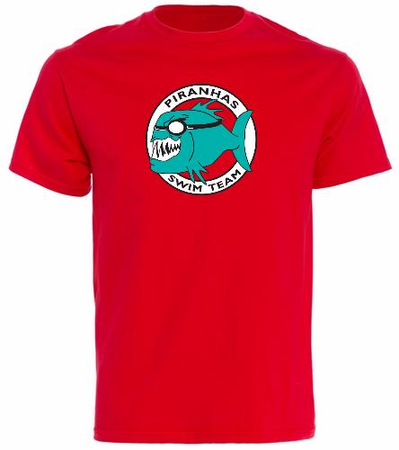 Piranhas Red T-Shirt - SwimOutlet Cotton Unisex Short Sleeve T-Shirt