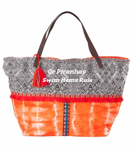 Go Piranhas Shoulder Bag Orange - Sun N Sand Women's Chromasia Shoulder Tote Bag