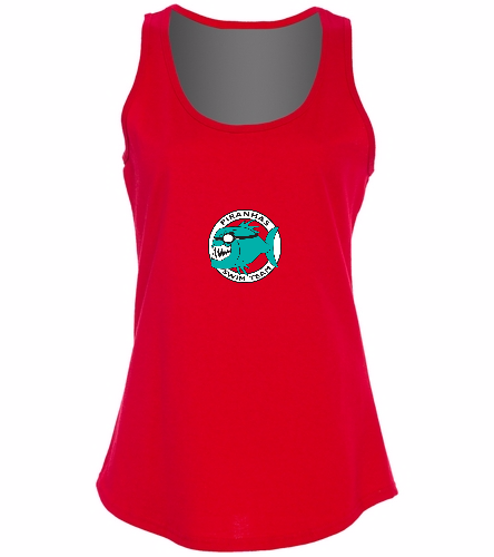 Ladies Team Tank Red -  Ladies 5.4-oz 100% Cotton Tank Top