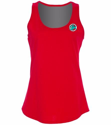 Ladies Tank Top Small Logo -  Ladies 5.4-oz 100% Cotton Tank Top