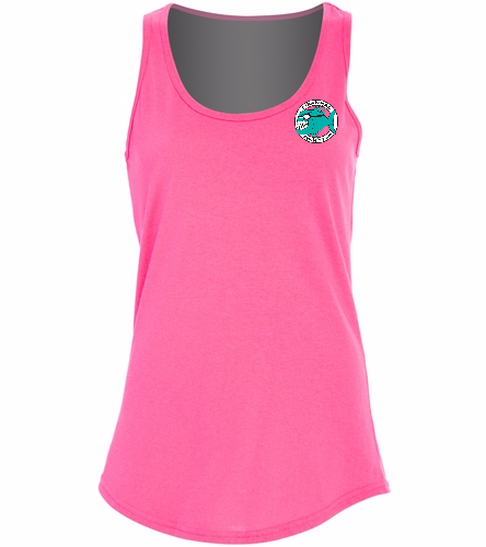 Ladies Tank Top Pink - SwimOutlet Women's Cotton Tank Top - Brights