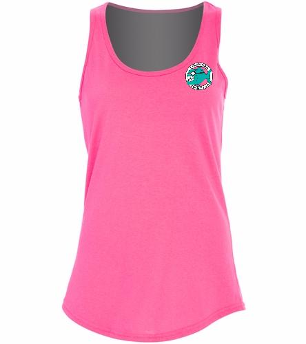 Ladies Tank Top Pink - Ladies 5.4-oz Cotton Tank Top