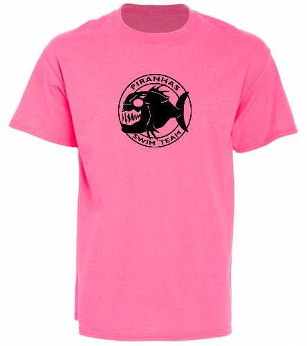 Piranhas Pink T-Shirt - SwimOutlet Unisex Cotton T-Shirt - Brights