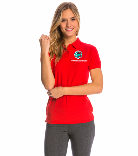 Pennbrooke Piranhas - Parent Coordinator - SwimOutlet Women's Pique Polo