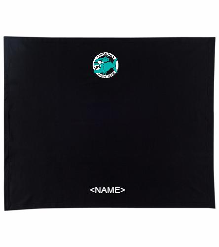 Personalized Piranhas Stadium Blanket - SwimOutlet Stadium Blanket