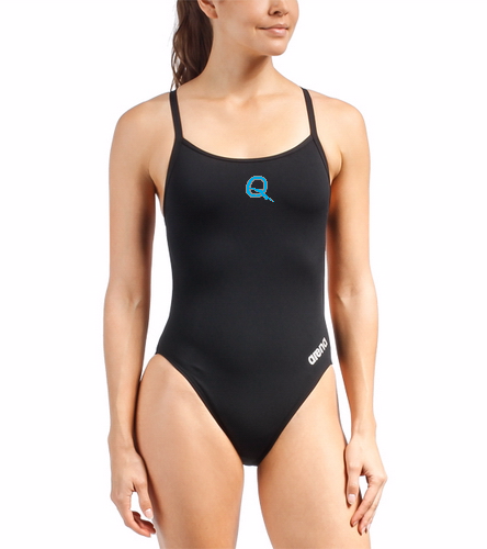 QSS - Arena Women's Mast Micro Thin Strap Racer Back One Piece Swimsuit
