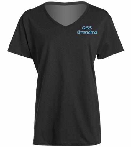 QSS Grandma T-Shirt Option 2 -  Ladies V-Neck