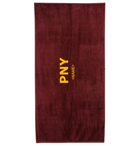 PNY Towel (Personalized)  - Royal Comfort Terry Velour Beach Towel 32 X 64