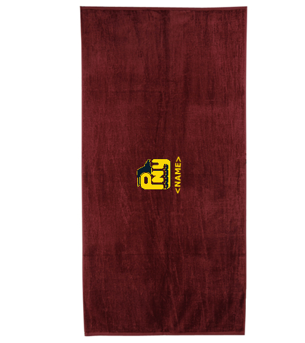Team Towel (Personalized) - Royal Comfort Terry Velour Beach Towel 32 X 64