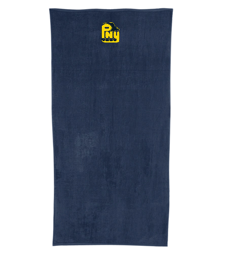 PNY Team Towel (Non-Personalized) Navy  - Royal Comfort Terry Velour Beach Towel 32 X 64