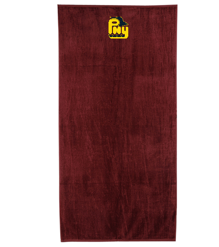PNY Team Towel (Non-Personalized) Burgandy - Royal Comfort Terry Velour Beach Towel 32 X 64