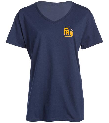 PNY V Neck - SwimOutlet Women's Cotton V-Neck T-Shirt