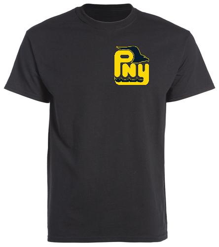 PNY Logo Swim Mom (Black Shirt) - SwimOutlet Cotton Unisex Short Sleeve T-Shirt