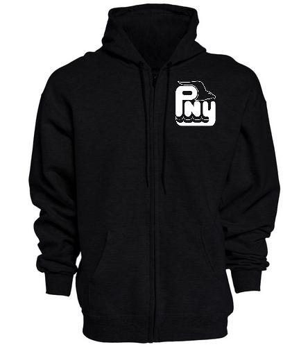 PNY Black Zipper Hoodie - SwimOutlet Unisex Adult Full Zip Hoodie