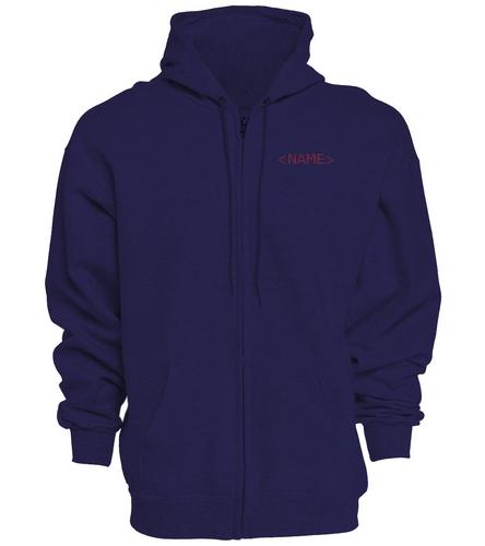 PNY Hoodie Sweatshirt with Zipper (Navy) - SwimOutlet Unisex Adult Full Zip Hoodie