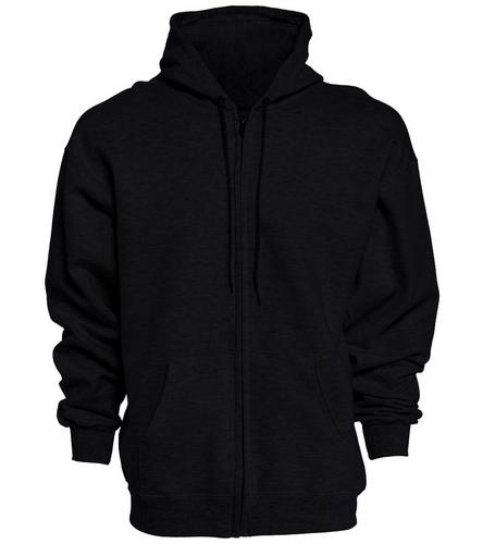 PNY Logo On Back Black Hoodie - SwimOutlet Unisex Adult Full Zip Hoodie
