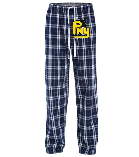PNY Pajama Pants (Yellow Logo) - SwimOutlet Unisex Flannel Plaid Pant
