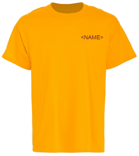 PNY Gold Shirt (Logo On Back) Personalized  - SwimOutlet Unisex Cotton T-Shirt - Brights