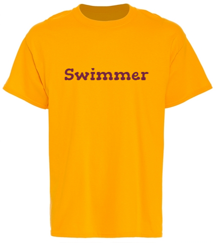PNY Logo On Back Swimmer Shirt - SwimOutlet Unisex Cotton T-Shirt - Brights