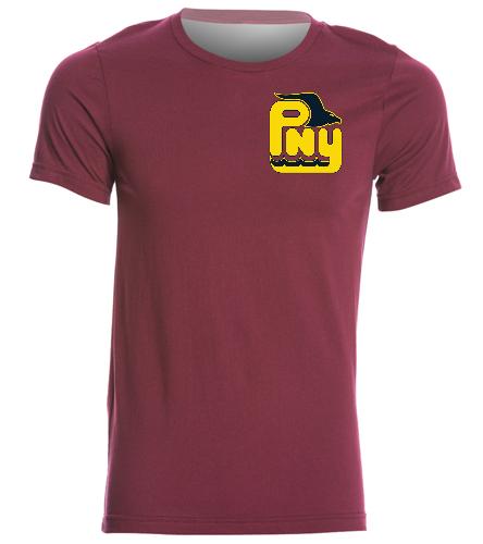 PNY Shirt (Burgandy) Logo On Front - Bella + Canvas Men's Jersey Tee