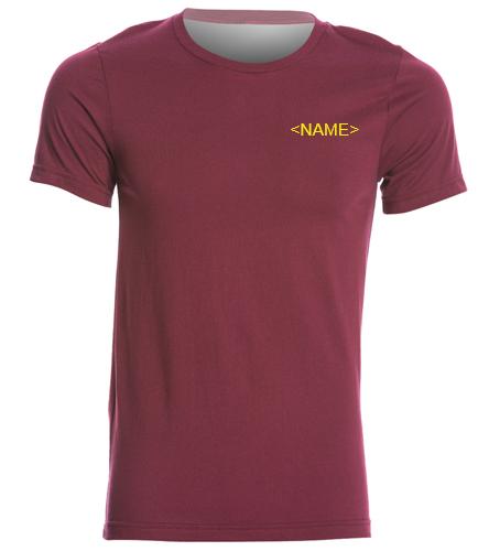 PNY Burgandy Shirt (Logo On Back) Personalized - Bella + Canvas Men's Jersey Tee