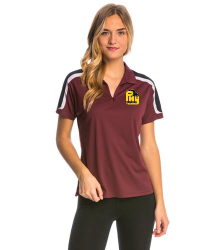 PNY Polo Burgandy Women's Shirt (Non-Personalized) - SwimOutlet Women's Tech Polo
