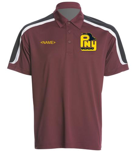 PNY Men's Polo Burgandy (Personalized) - SwimOutlet Men's Tech Polo