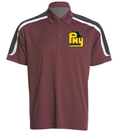 PNY Men's Polo Burgandy (Non-Personalized) - SwimOutlet Men's Tech Polo