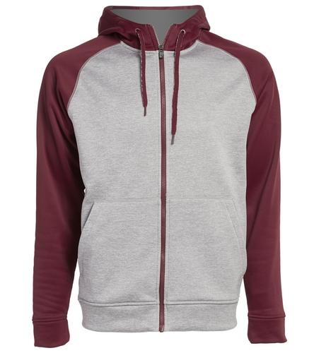 PNY Logo On Back Two Tone Zipper Hoodie - Adidas Men's Team Issue Full Zip Fleece