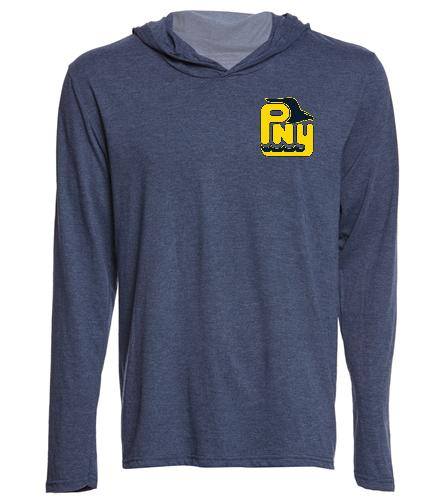 PNY Long Sleeve Shirt (Navy) Logo in corner - SwimOutlet Men's Perfect Long Sleeve Hoodie
