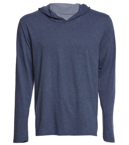 PNY Long Sleeve Shirt (Logo On Back) Navy  - SwimOutlet Men's Perfect Long Sleeve Hoodie