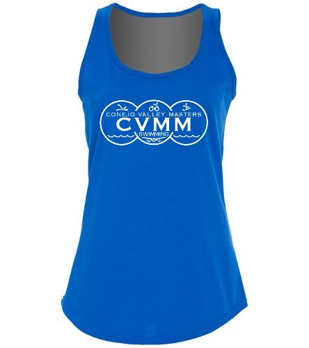 CVMM ladies Tank  - SwimOutlet Women's Cotton Racerback Tank Top