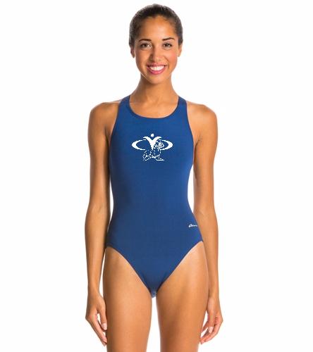 CYC Girls Swim Suit - Ocean Racing by Dolfin Solid Performance Back
