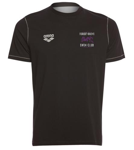 Forest Grove Black Tee - Arena Unisex Team Line Crew Neck Short Sleeve T Shirt