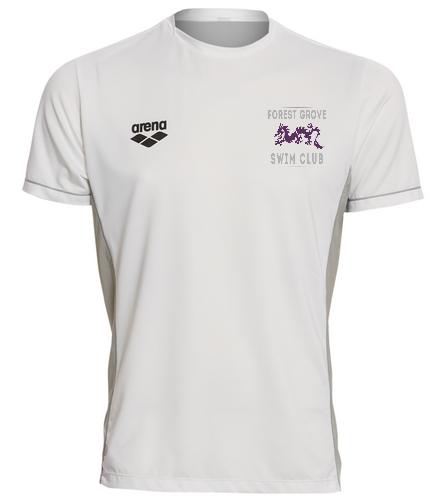 Forest Grove White Crew - Arena Men's Team Line Crew Neck Short Sleeve Tech T Shirt