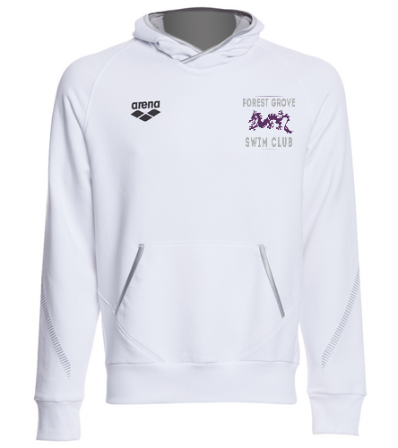 Forest Grove White Hoodie - Arena Unisex Team Line Stretch Fleece Pullover Hoodie