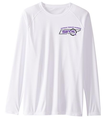 SETS Men's Shirt - Sporti Men's Solid L/S UPF 50+ Sun Shirt