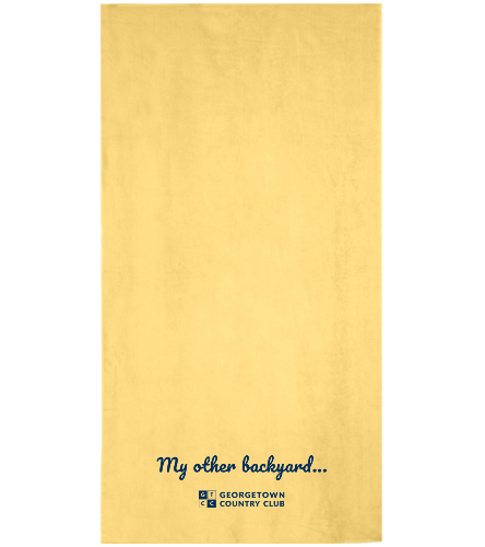 Georgetown Yellow - Royal Comfort Terry Velour Beach Towel 32 X 64