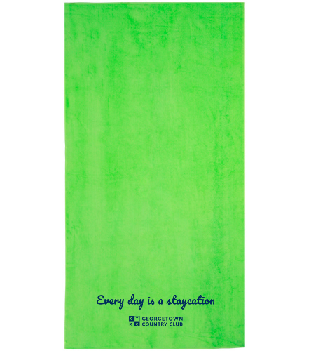 Georgetown green - Royal Comfort Terry Velour Beach Towel 32 X 64
