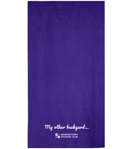 Georgetown purple - Royal Comfort Terry Velour Beach Towel 32 X 64