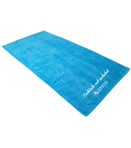 Georgetown Turquoise - Royal Comfort Terry Velour Beach Towel 32 X 64