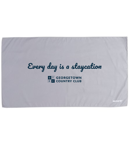 Georgetown Country Club - Sporti 20 x 36 Microfiber Dry Sports Towel