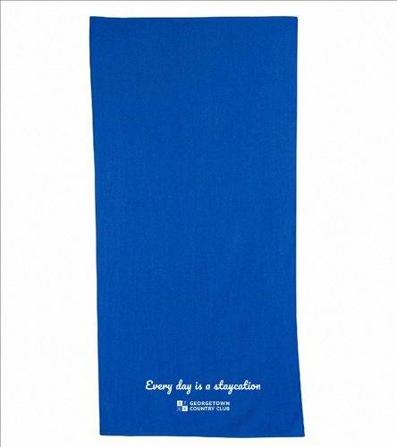 Georgetown Blue - Diplomat Terry Velour Beach Towel 30 x 60