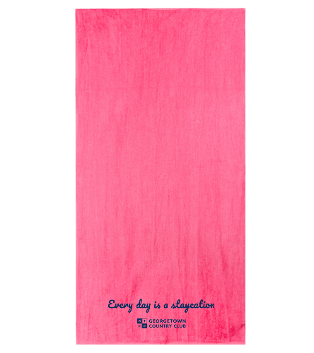 Georgetown pink - Diplomat Terry Velour Beach Towel 30 x 60