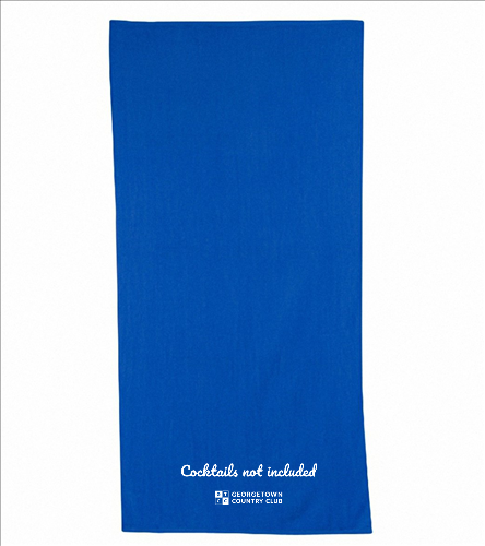Georgetown blue cocktails - Diplomat Terry Velour Beach Towel 30 x 60