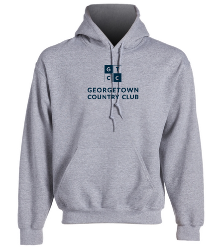 Georgetown Country Club Heather Grey - SwimOutlet Heavy Blend Unisex Adult Hooded Sweatshirt