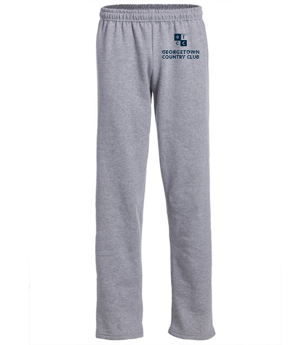 Georgetown Country Club Lt. Grey - SwimOutlet Heavy Blend Unisex Adult Open Bottom Sweatpants