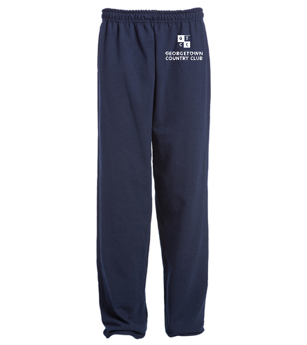 Georgetown Country Club Navy - SwimOutlet Heavy Blend Unisex Adult Open Bottom Sweatpants