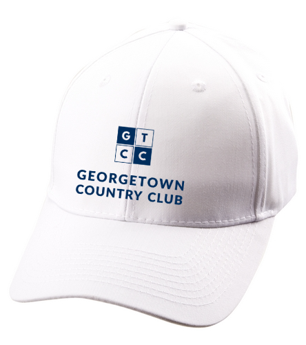 Georgetown Country Club_white/navy - SwimOutlet Unisex Performance Twill Cap